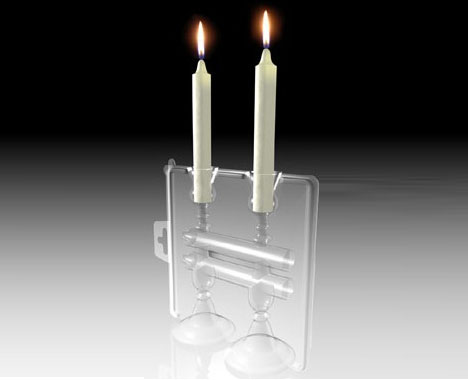 Creatively Designed Candle Holder and Package