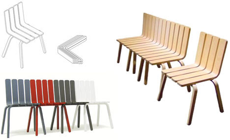 Ecological Bench Chair Furniture Design
