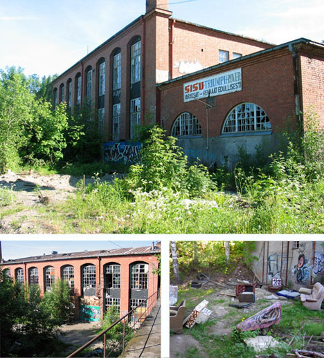 Finland Abandoned Matchstick Factory Building