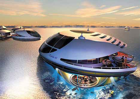 Futuristic Cool Houseboat Concept Design
