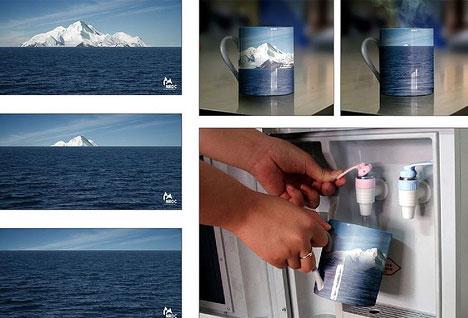 Global Warming Ice Caps Melting Subvertisement