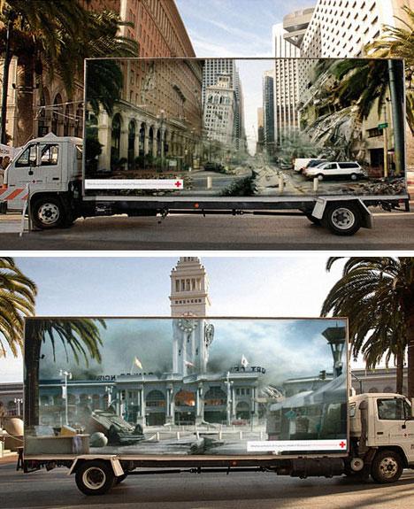 Guerilla Red Cross Disaster Relief Advertisement