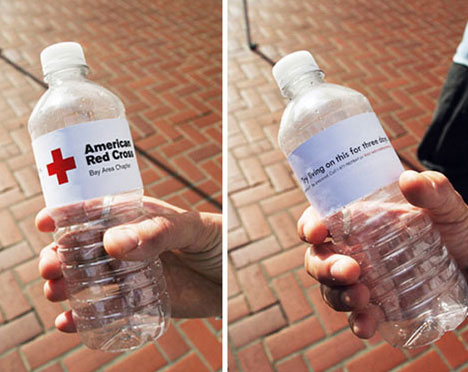 Guerilla Red Cross Water Donations