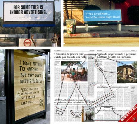 Homeless Clothing Donation Guerilla Ads
