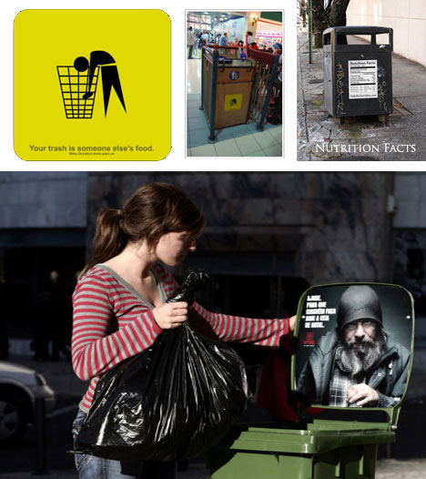 Homeless Hunger Guerilla Ad Campaign
