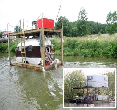 Humorous Hobo Floating Dwelling Place
