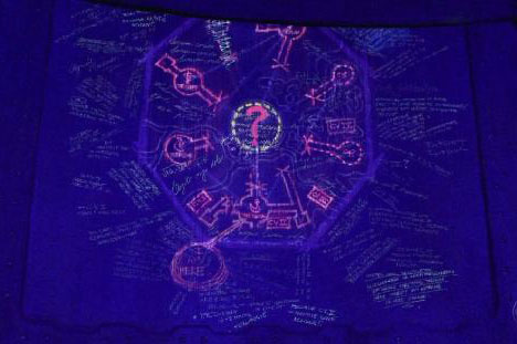 Lost Island Map Drawing from Television Show