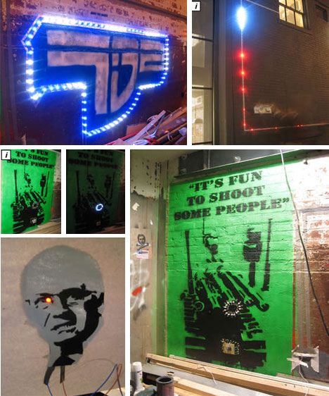 Magnetic Sticky Graffiti Light Art Strips