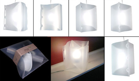 Minimalist Design Light Fixture and Package