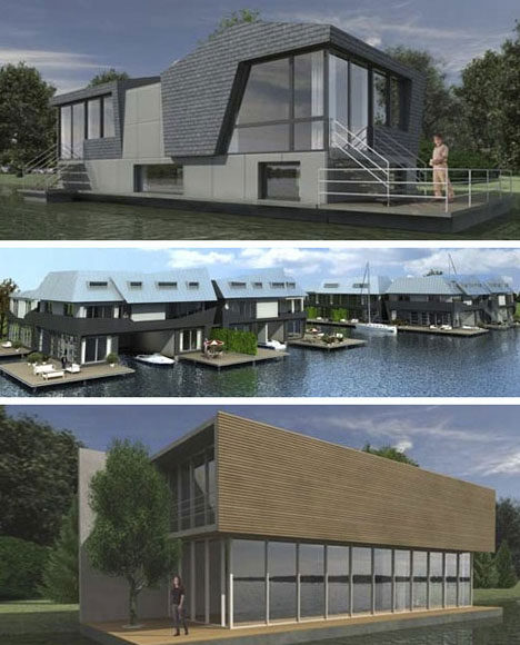 Modern Amsterdam Creative Houseboat Designs
