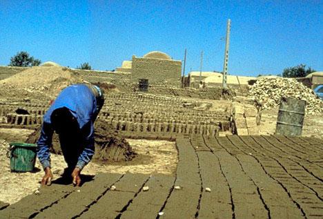 Mud Brick Building Construction Process