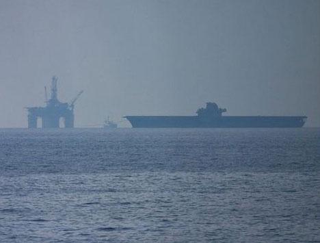 Ocean Shell Oil Rig Platform