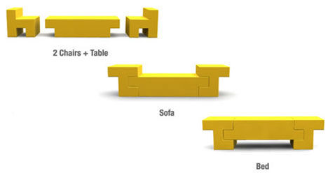 Sofa Bed Table Chair Combined Furniture