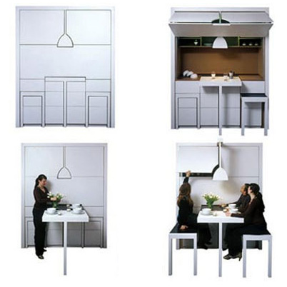 Room in a box 10 pieces of clever transforming furniture urbanist - Small space convertible furniture image ...
