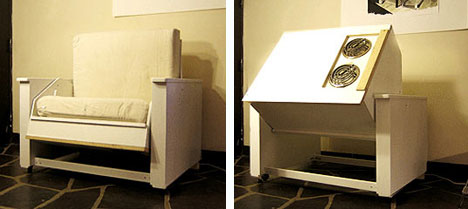 Transforming Furniture Chair to Kitchenette