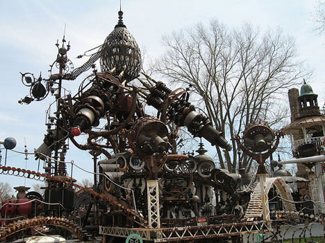 Bizarre Scrap Metal Building