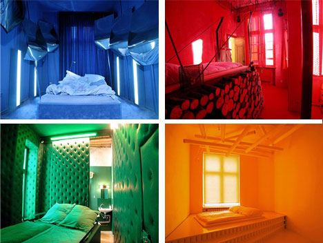 Brightly Colored Hotel Room Interiors