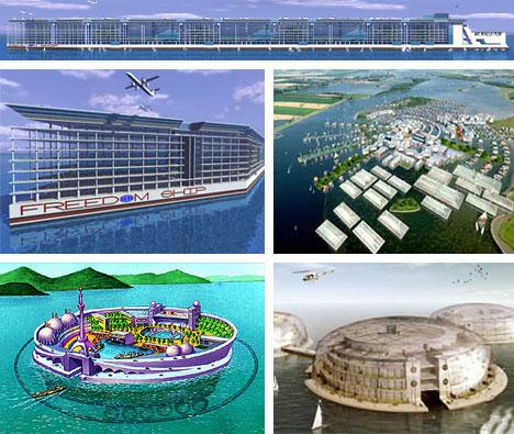 Cool Futuristic Floating City Design