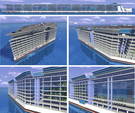 Floating Permanent Ocean Going City Concept