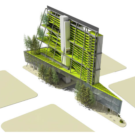 3d city farms 5 urban design proposals for green towers for Green design