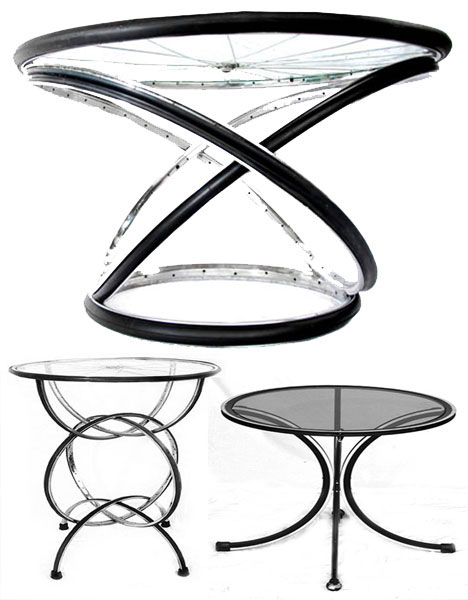 Recycled Bicycle Furniture Design