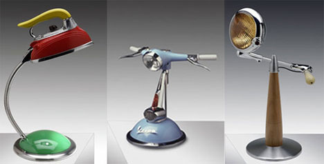 Recycled Funky Lamps