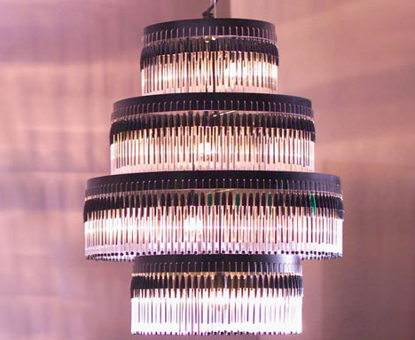 Recycled Pen Chandalier
