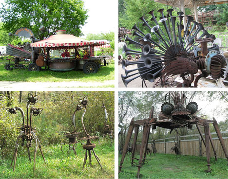 Strange Metal Sculpture Park Structures
