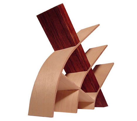 Bent Wood Bookshelves