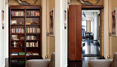 Design Of Bookshelf Furniture Bookcase Secret Door N