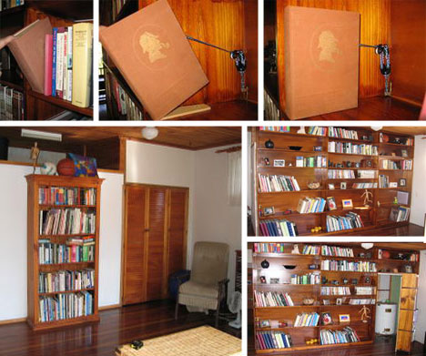 Pdf diy secret bookcase door design download sewing for Secret design