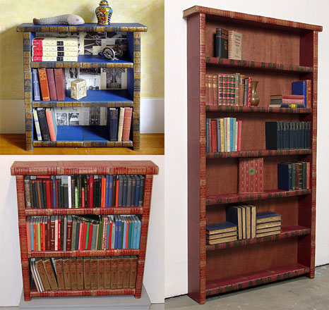 bookshelves made of books bookcases made of books - Picture Of Book Shelf