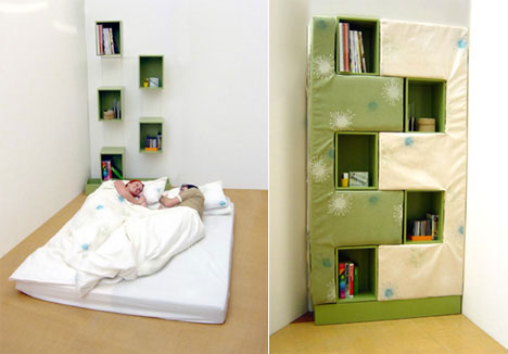 Brilliant bookcases 20 best bookshelf bookcase designs for Bookshelf behind bed
