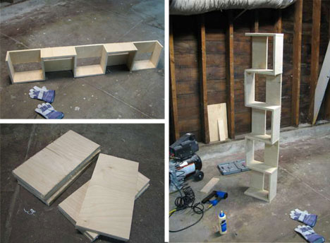 DIY Plywood Shelves