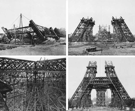 eiffel tower construction