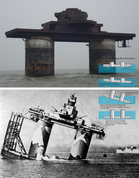 Sinking a Navy Sea Fort