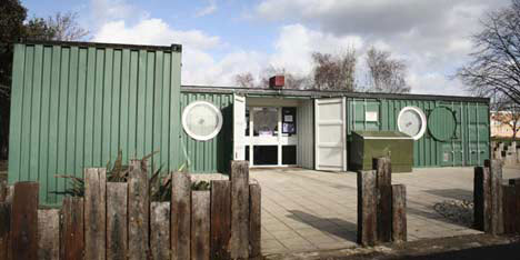 10 cargo shipping container houses building designs ideas urbanist - Container homes london ...