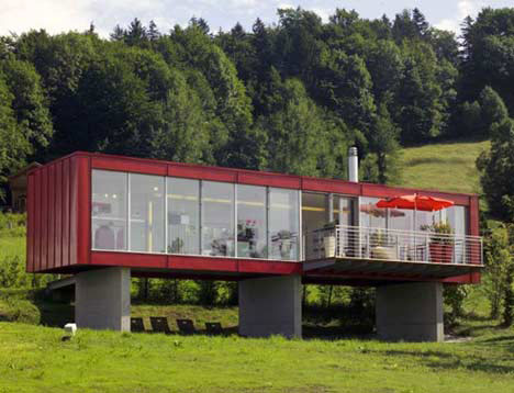 10 cargo shipping container houses building designs ideas urbanist - Mobile home container ...