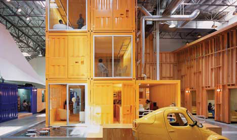 Attractive This Award Winning Office Design By Clive Wilkinson Is Made Out Of Stacked Shipping  Containers ...