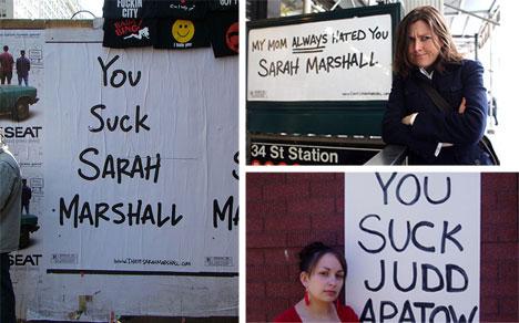Sarah Marshall Guerilla Campaign