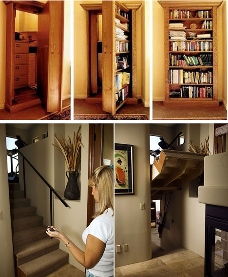 5 Stunning Modern Secret Rooms, Hidden Doors & Passages | Urbanist