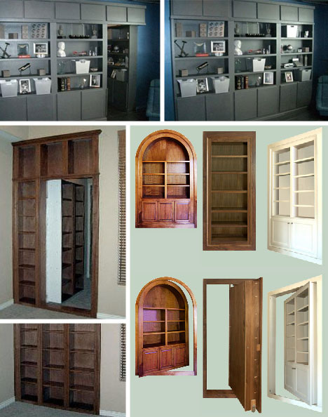 5 stunning modern secret rooms hidden doors passages for Custom panic room