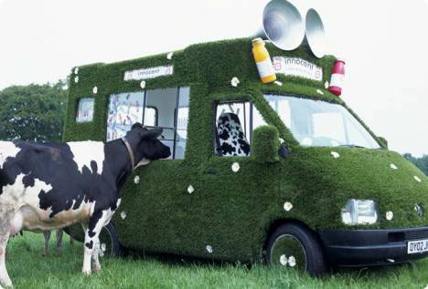 ambient marketing innocent dancing grass van