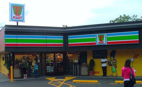 ambient marketing simpsons movie kwik-e-mart 7-11