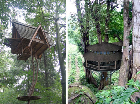 Blueforest treehouses 2, from Web Urbanist