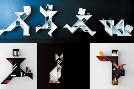 Artistic Bookshelves