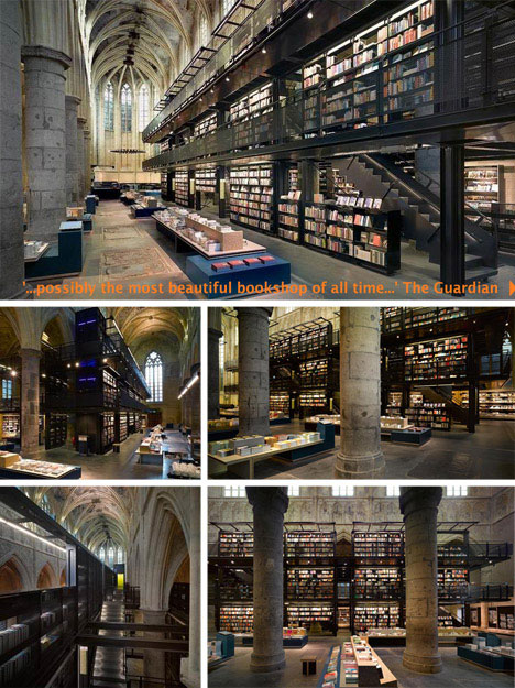 Coverted Church Bookstore Interior Design
