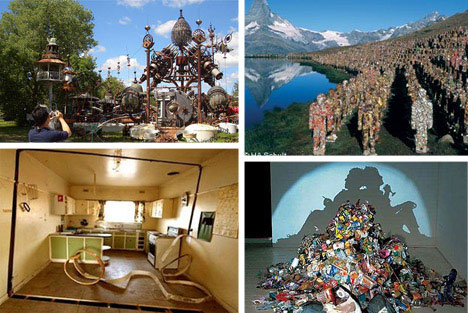 Creative recycled art architecture and design urbanist for Creative art from waste