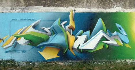 Copados grafitis 3D