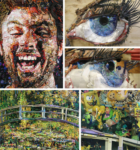 from pottery to portraits 20 amazing works of garbage art